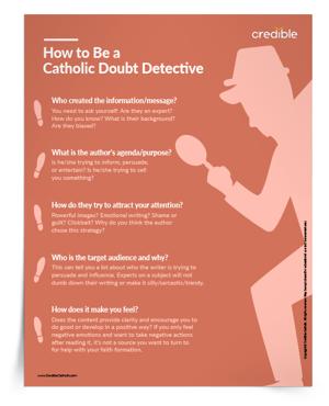 Catholic Doubt Detective Tip Sheet & Poster